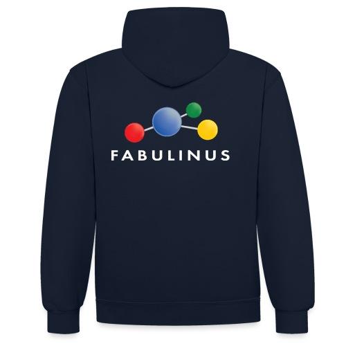 Fabulinus logo enkelzijdig - Contrast hoodie