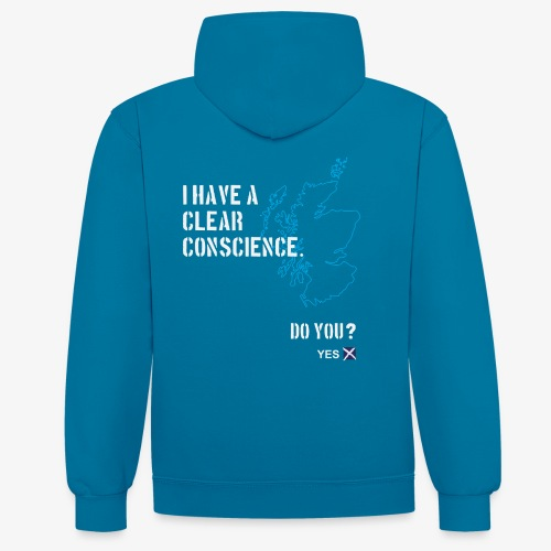 Clear Conscience - Contrast Colour Hoodie