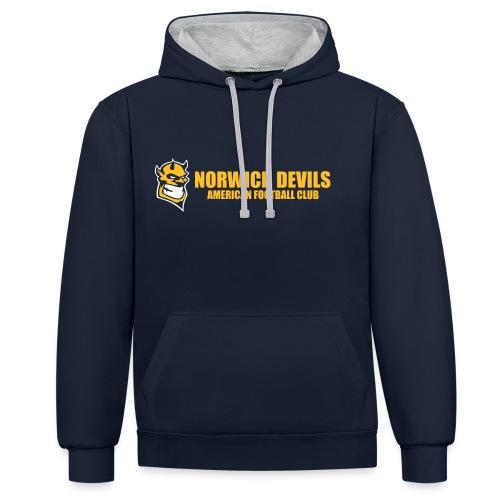 norwich devils 3 - Contrast Colour Hoodie