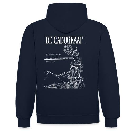 cadugraaf wit - Contrast hoodie