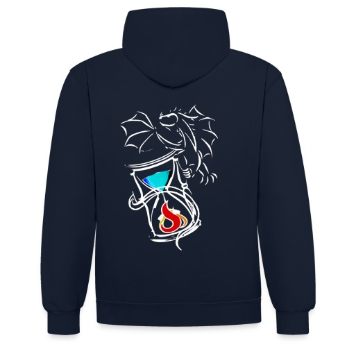 Compo Logo Vect Blanc grand png - Sweat-shirt contraste