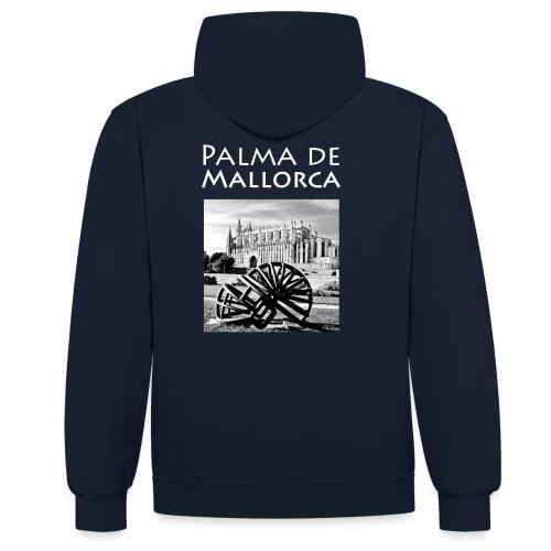 Palma de Mallorca mit Cathedrale Heiligen Maria - Kontrast-Hoodie