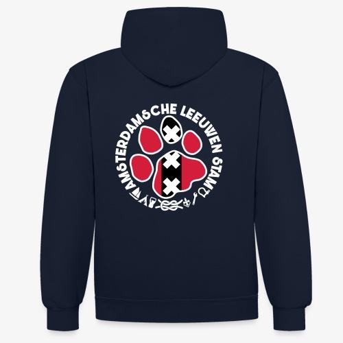 ALS witte rand donkershir - Contrast hoodie