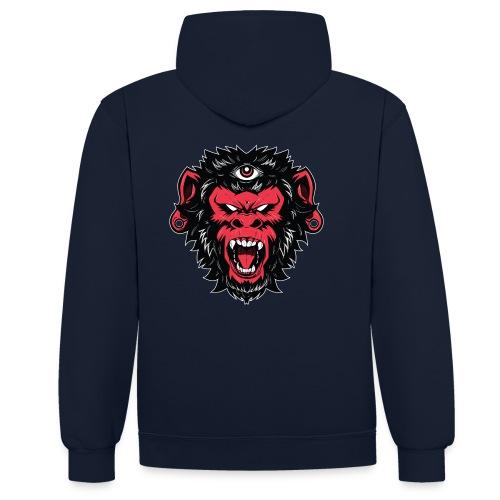 logo bearded monkeys - Sweat-shirt contraste