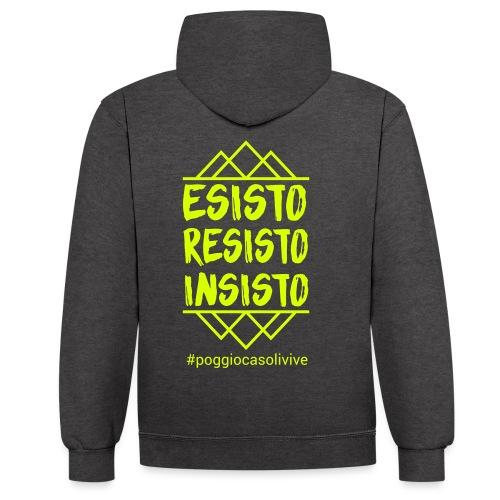 patch resisto - Felpa con cappuccio bicromatica
