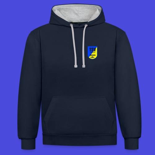Logo TSV Bonn rrh - Kontrast-Hoodie