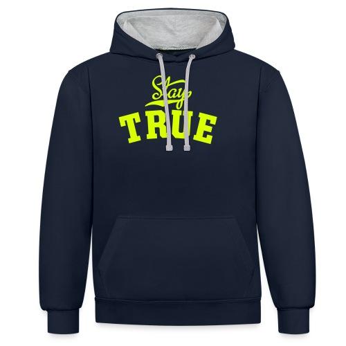 TT StayTrue eps - Kontrast-hættetrøje