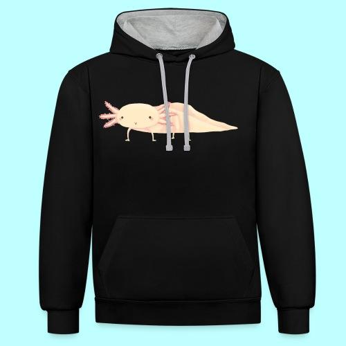 Axolotl - Kontrast-Hoodie