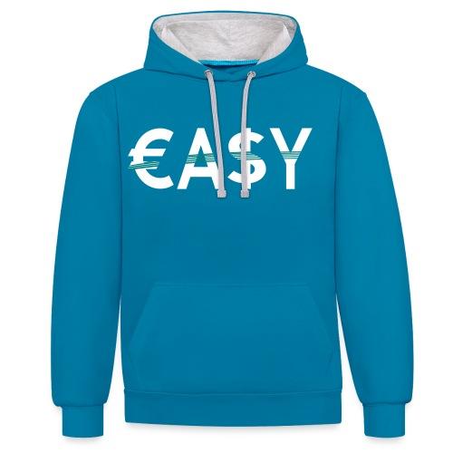 EASY - Sudadera con capucha en contraste