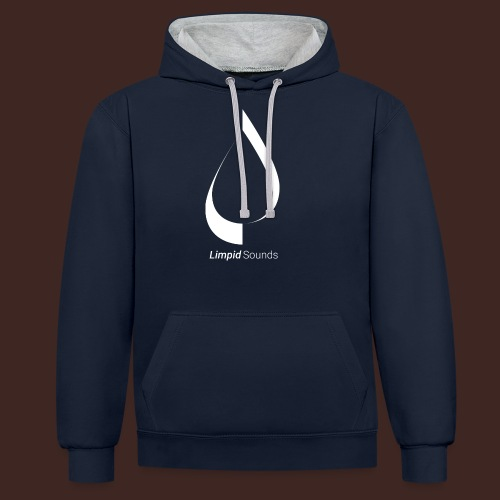 Limpid White - Contrast Colour Hoodie