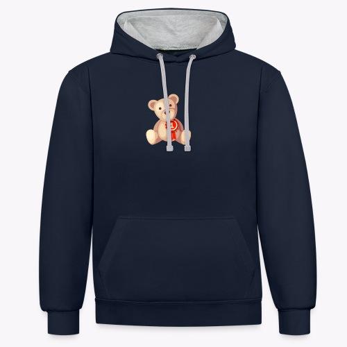 Teddy Bear - Contrast Colour Hoodie