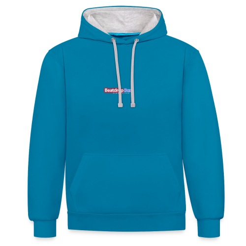 beatdropbox logo final and hires - Contrast hoodie