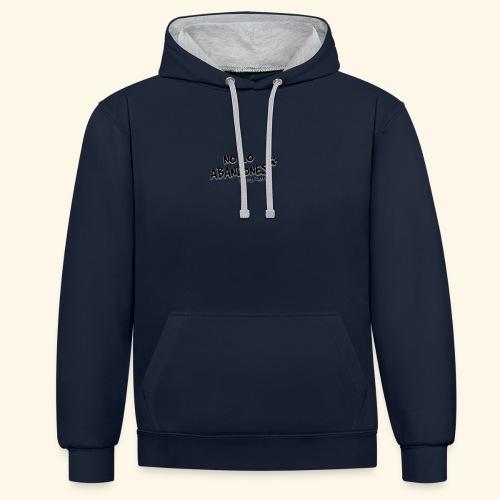 noloabandones negro - Sudadera con capucha en contraste