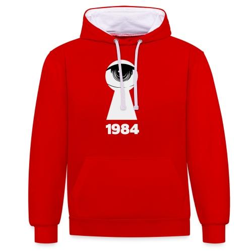 1984 - Felpa con cappuccio bicromatica
