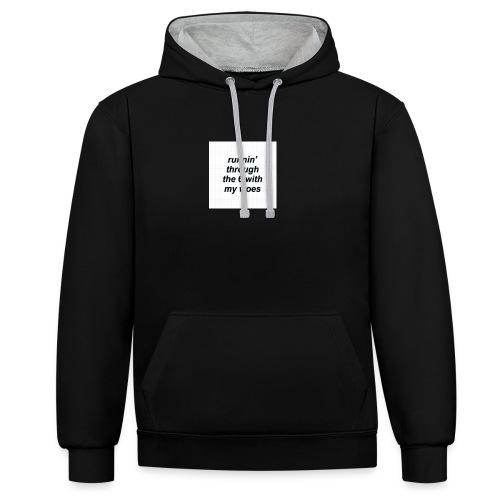 cap woes - Contrast hoodie