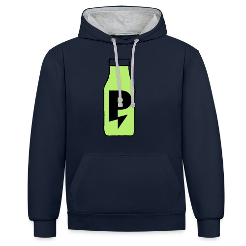 PWRPLNT_SMOOTHIE_BOTTLE_P - Contrast Colour Hoodie