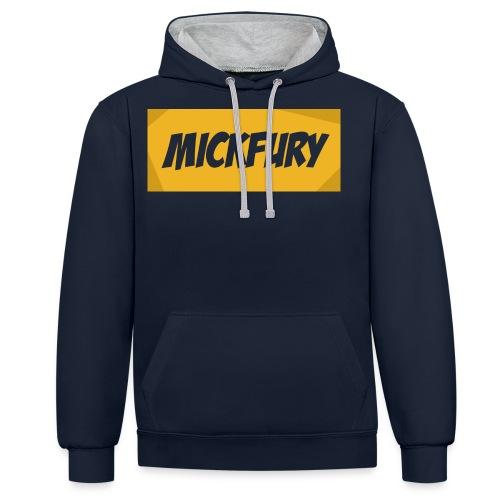 Mickfury Name - Yellow - Contrast Colour Hoodie