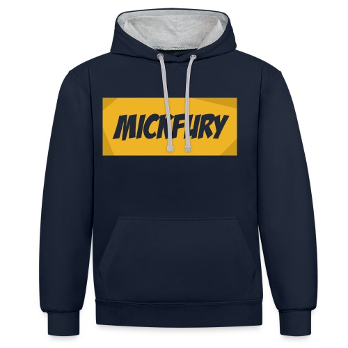 Mickfury Name - Yellow - Contrast Colour Hoodie