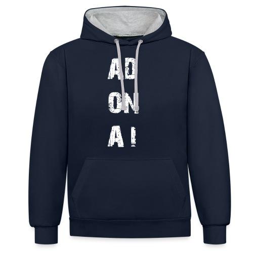 AD ON AI - Kontrast-Hoodie