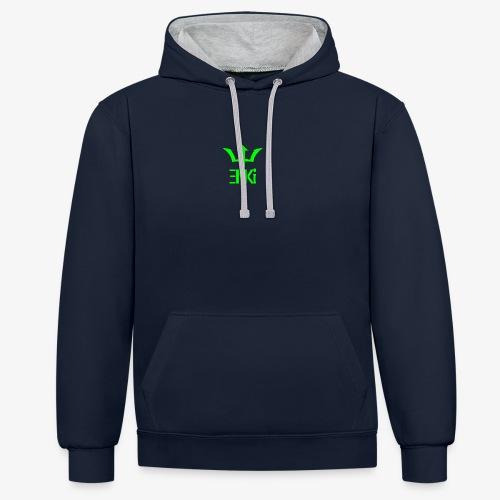 logo vert - Sweat-shirt contraste
