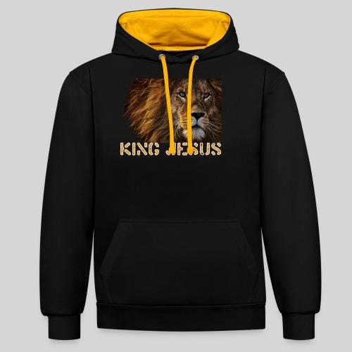 König Jesus der Löwe von Juda - Kontrast-Hoodie