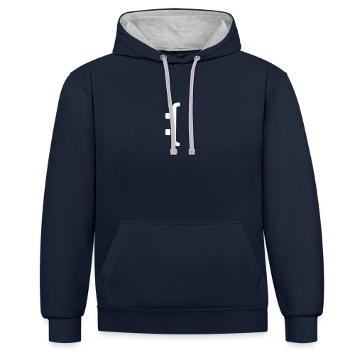 A 'Sad Face' Design :( , Designed by Browney. - Contrast Colour Hoodie