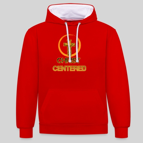 Christ Centered Focus on Jesus - Kontrast-Hoodie