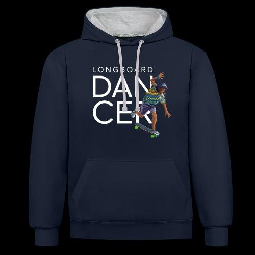Longboard Dancer - Pixel serie - Sweat-shirt contraste