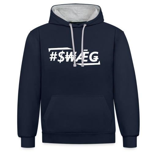 swagweiss2 - Kontrast-Hoodie