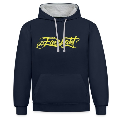 fairlight vector black on - Contrast Colour Hoodie