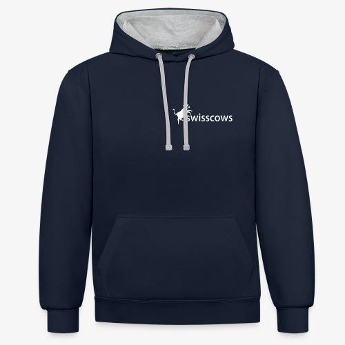 Swisscows - Logo - Kontrast-Hoodie