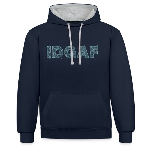 IDGAF - Sweat-shirt contraste
