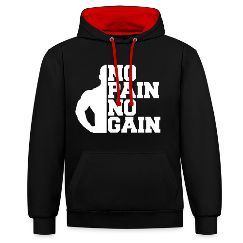 no pain no gain - Sweat-shirt contraste