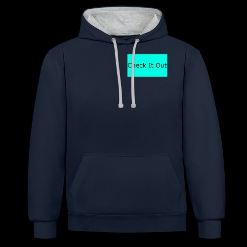 check it out - Contrast Colour Hoodie