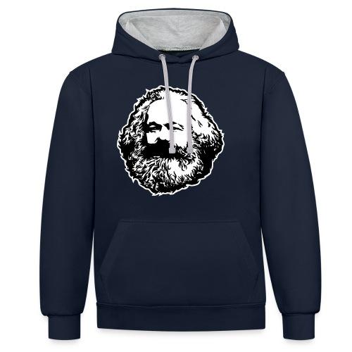Karl Marx - Felpa con cappuccio bicromatica