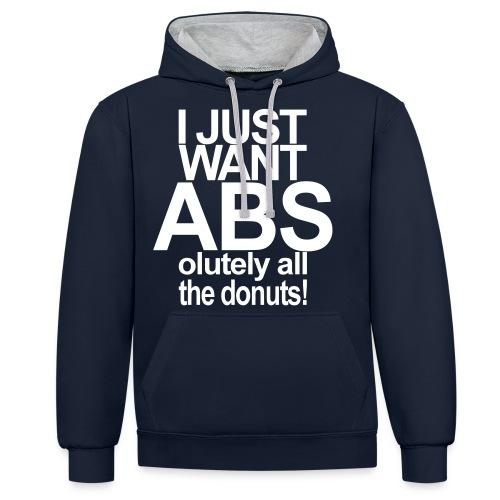 ABSolutely All the Donuts - Kontrast-Hoodie