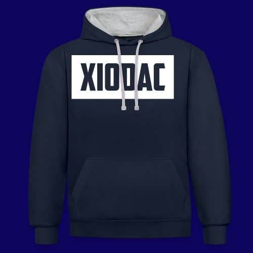 xiodaclogowhite png - Contrast Colour Hoodie