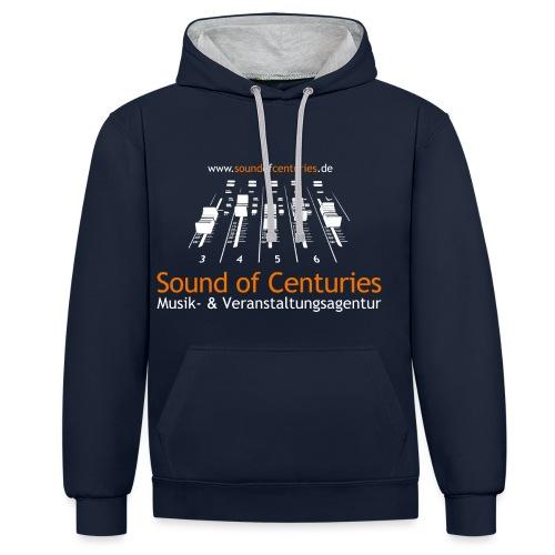 Logo SoC weiss png - Kontrast-Hoodie
