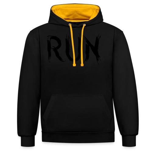 Run - Kontrast-Hoodie