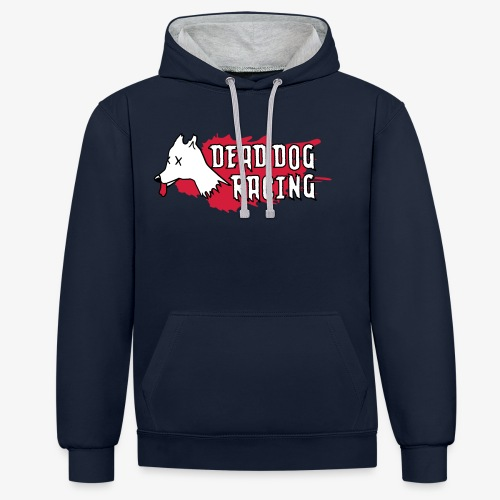 Dead dog racing logo - Contrast Colour Hoodie