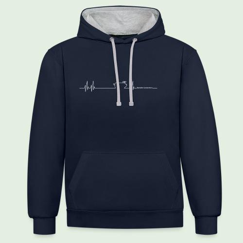 Herzschlag - Kontrast-Hoodie