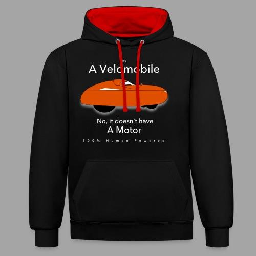 it's a velomobile white text - Kontrastihuppari