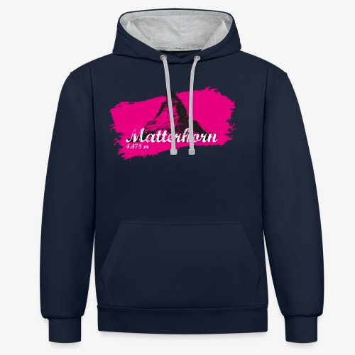 Matterhorn - Matterhorn in pink - Contrast Colour Hoodie