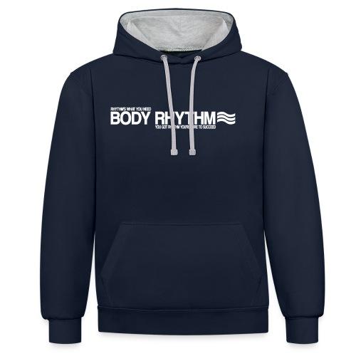 BodyRhythmSucceedWhite - Contrast Colour Hoodie