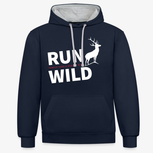 RUN WILD Temple Yard & Beauty Hill - Kontrast-Hoodie