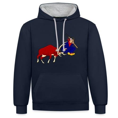 hert vs boer - Contrast hoodie