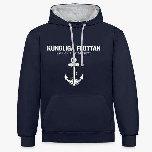 Kungliga Flottan - Swedish Royal Navy - ankare - Kontrastluvtröja