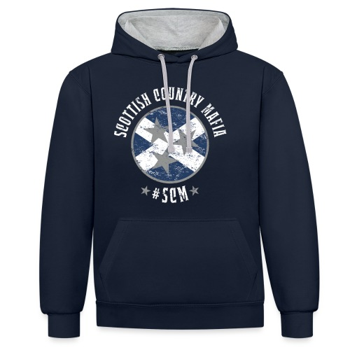 Scottish Country Mafia in White - Contrast Colour Hoodie
