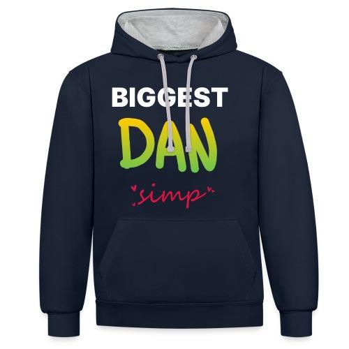 We all simp for Dan - Kontrast-hættetrøje