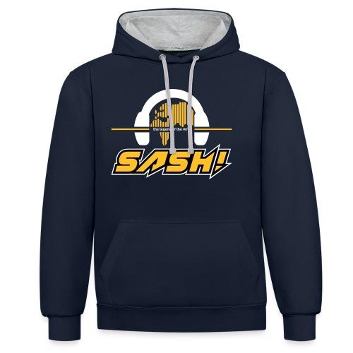 SASH! Logo 2020 Headfone - Contrast Colour Hoodie